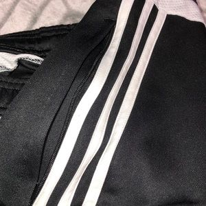 adidas Pants - 3 side striped Adidas joggers w/ zip able pockets
